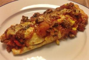 gehakt enchilada op bord